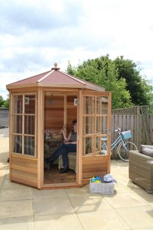 Alton Shipton cedar summerhouse 6ft x 6ft (1.8m x 1.8m) with red felt roof