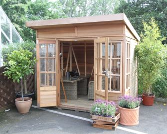 Alton Pentwick cedar summerhouse 8ft 2in x 6ft 5in (2510mm x 1968mm)