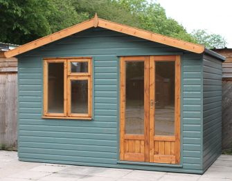 Grantchester Office 12ft x 8ft (3.6m x 2.4m) with optional double doors