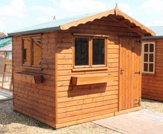 Norfolk Chalet 9ft x 7ft (2.7m x 2.1m) with optional window boxes