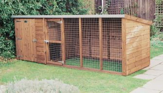 Sherwood kennel & run 12ft x 4ft (3.6m x 1.2m)