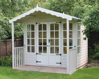 Surrey Summerhouse 8ft x 6ft (2.4m x 1.8m) with a 3ft (0.9m) veranda in a painted finish